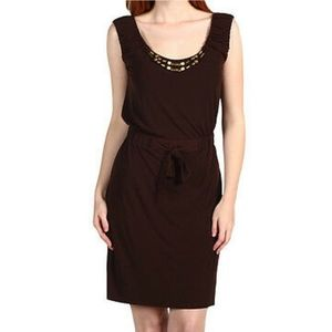 Max and cloe sleevless with ruch dress size s